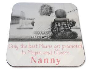 Personalised Printed Coaster Mums promoted Nanny Gran Birthday photo gift