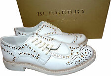 $890 Burberry Rayford Studded Derby Shoes Asymmetric Oxford Loafers 38.5
