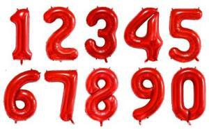 "16"" 40"" Number Foil Balloon Mylar Celebration Party Birthday Wedding Baby Shower"