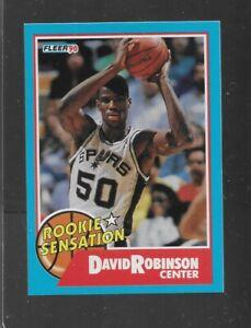 1990 FLEER ROOKIE SENSATION DAVID ROBINSON #1 of 10 HOF NICE CARD