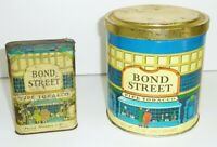 BOND STREET Vintage Pipe Tobacco Pocket Tin and Can Philip Morris Advertising