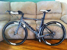 2010 Giant Trinity 1 TT Racing Triathlon Bike 700c Aero bars cage pedals FAST