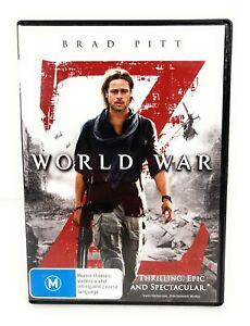 World War Z (DVD, 2013) Brad Pitt Region 4 Free Postage