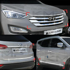 Chrome (Radiator Grill+Side Accent+Trunk) Molding C925 For HYUNDAI 13-15 SantaFe