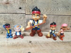 JAKE AND THE NEVERLAND PIRATES Lot Figurine Figures 5 Cubby Izzy