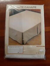 Abdeckungen Boxspring mit Faltenbalg Bett 150 cm Canape Bettrahmen Cubrecanape