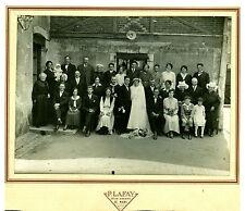 Photo ancienne mariage sarthois costumes coiffes photographe P. Lafay le Mans