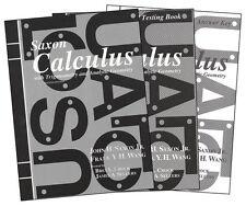Saxon High School Calculus Homeschool Kit 2nd Edition - High School, NEW SEALED!