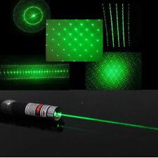 10pcs Green Laser Pointer 6 in 1 5mw Star CAP Projector Pen Lazer 532nm