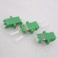 10 PCS LC/APC to LC/APC Duplex Single Mode Flange Plastic Fiber Optic Adapter