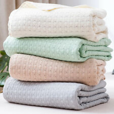 "pure cotton gauze blanket thin for summer air conditioning bed cover 59""x78"" new"