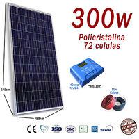 Kit Solar 300W Hora 24V Panel fotovoltaico Regulador 40A Fotovoltaica LCD