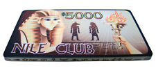 10 $5000 Nile Club 40 Gram Casino-Style Ceramic Poker Plaques