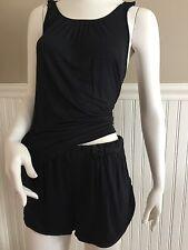 Betsey Johnson Women's Knit Shorts PJ Sleep Set Black - Medium