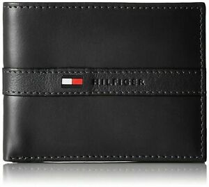 Tommy Hilfiger Ranger Passcase Billfold Genuine Leather Men's Wallet - Black