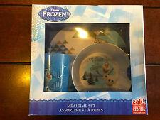 Disney Frozen Olaf Mealtime Set - Plate, Bowl & Cup Bpa Free