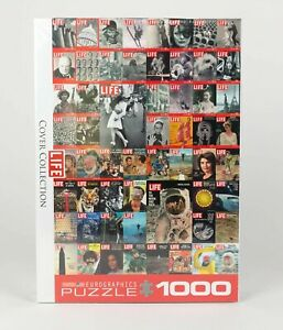 Life Magazine Cover Collection 1000 Piece Puzzle New Sealed in Box Eurographics