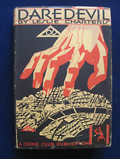 DAREDEVIL by LESLIE CHARTERIS 1st American Edition - Scarce in Dust Jacket