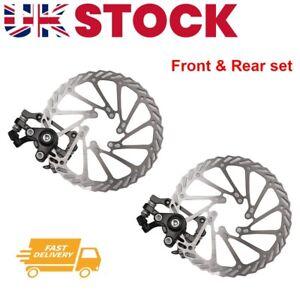 2x Mechanical Front & Rear Caliper Mountain Bike Bicycle Disc Brake Rotor 160mm