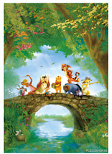 """Jigsaw Puzzles 1000 Pieces """"Winnie the Pooh"""" / Disney / Toy&puzzle"""