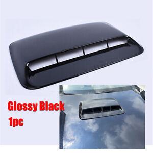 Universal Glossy Black ABS Car Air Flow Intake Hood Scoop Vent Bonnet Cover Trim