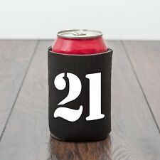 21 Beer Can Cooler/21st Birthday/Twenty One/Beer lover/novelty gift/drinks gift