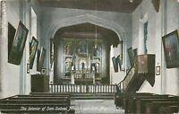 DB Postcard CA J139 Interior of San Gabriel Mission near Los Angeles Germany
