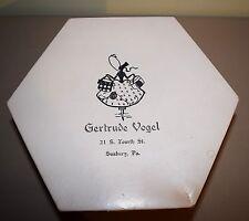 Vintage Gertrude Vogel Hat Box Sunbury, Pa