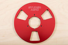 "New Studer A810 Red 10.5"" Metal Aluminum Reel  for 1/4 Tape take up reel"