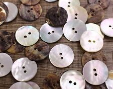 Real Pearl Shell Button 30pcs 30L 19.2mm Natural Sewing Notions Crafts Project