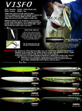 Payo Visfo 110F Seabass Fishing Lure Stickbait Topwater BB Silver Shiner