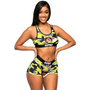 PSD Underwear Womens Neon Warface Bra Yellow