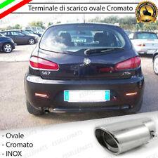 TERMINALE DI SCARICO PER MARMITTA FINALINO CROMATO INOX ALFA 147