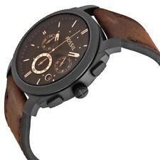 Fossil Men's Machine FS4656 Brown Leather Analog Quartz Fashion Watch