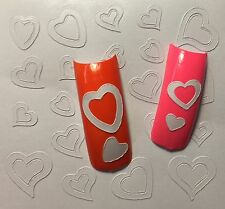 Nail Art Design Heart Stencils