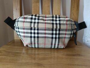 New Authentic Burberry Vintage Check Bonded Cotton Bum Bag