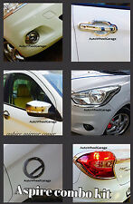 Chrome Combo Kit For Ford Figo Aspire 7pcs Head &Tail light+Fog Lamp+Mirror etc.