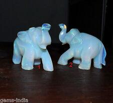 TWO Pcs OPAL Elephant Amazing Rainbow Shine Shelf Decor, #GEMSINDIA COLLECTION