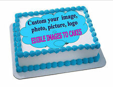 EDIBLE CAKE PHOTO IMAGE PERSONALIZED/CUSTOM - ANY IMAGE (ENGLISH/SPANISH)