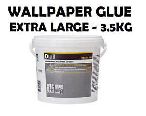 EXTRA LARGE!!! Diall 3.5KG READY MIXED Strong Wallpaper Adhesive Paste Glue Tub