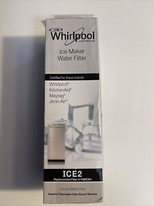 NEW- OEM Whirlpool F2WC9I1 ICE 2 Ice Maker Water Filter ICE2 SEALED