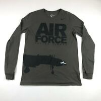 Nike Mens Olive Green Air Force Flying Tigers Long Sleeve Graphic Shirt Large
