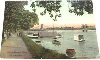 .EARLY 1900s ROCKHAMPTON, FITZROY RIVER IN FLOOD COLOUR POSTCARD.