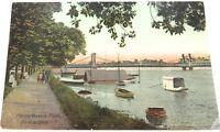.EARLY 1900s ROCKHAMPTON, FITZROY RIVER IN FLOOD COLOUR POSTCARD.