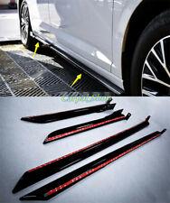 For VW Jetta Mk7 2019 2020 ABS Black Side Skirt Body Guard Molding Cover Trim