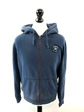 CONVERSE Mens Hoodie Jacket S Small Blue Cotton & Polyester