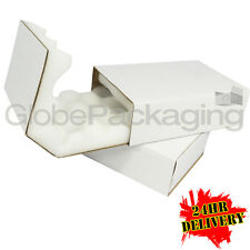 """100 SMALL SHELL AND SLIDE THICK FOAM LINED INSULATED BOXES 181x120x49mm (7x5x2"""")"""