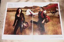 Near Mint Print Ad Poster Bono Louis Vuitton Airplane 2 pages