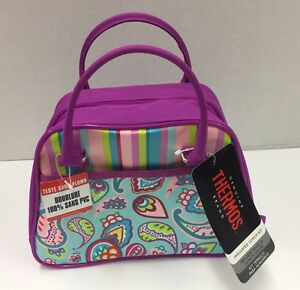 Thermos Standard Lunch Box Purple Paisley (NEW)