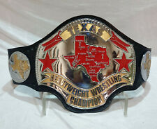 Texas Heavyweight Wrestling Title Replica Championship Belt Zinc Metal 4mm Plate